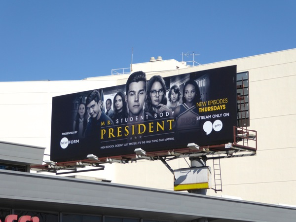 Mr Student Body President billboard