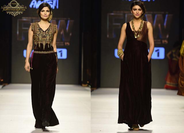 Huma Adnan & Amir Adnan Tuscany Collection www.fashionwearstyle.com