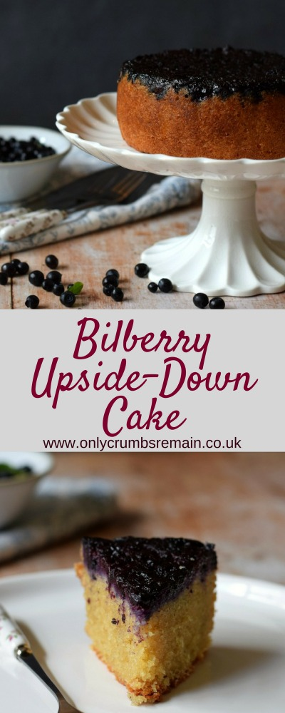 Upsidedown cakes make for an interesting everyday cake.  This recipe uses bilberries and brings a touch of drama, as well as wonderful flavour and nutrition to an everyday cake suitable for afternoon tea.