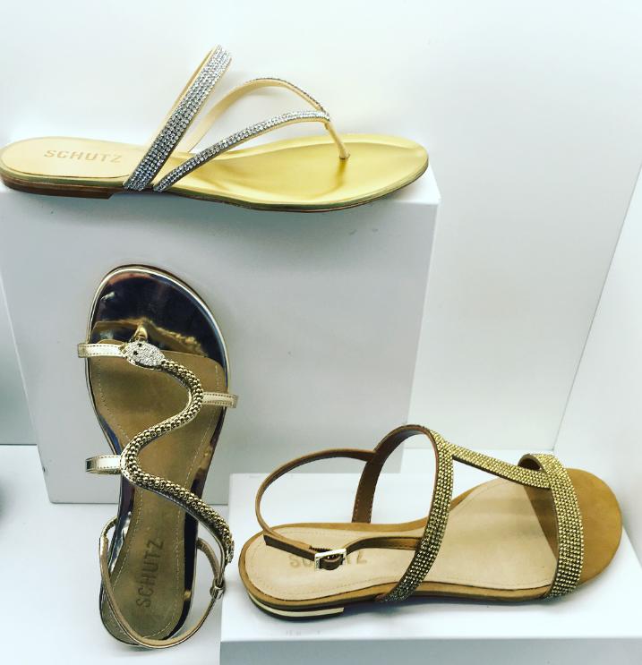Schutz Damika Snake Sandals