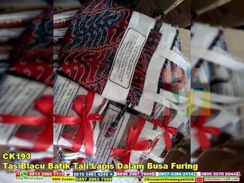 jual Tas Blacu Batik Tali Lapis Dalam Busa Furing