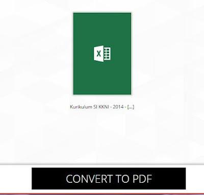 Merubah File Microsoft Excel Ke File PDF