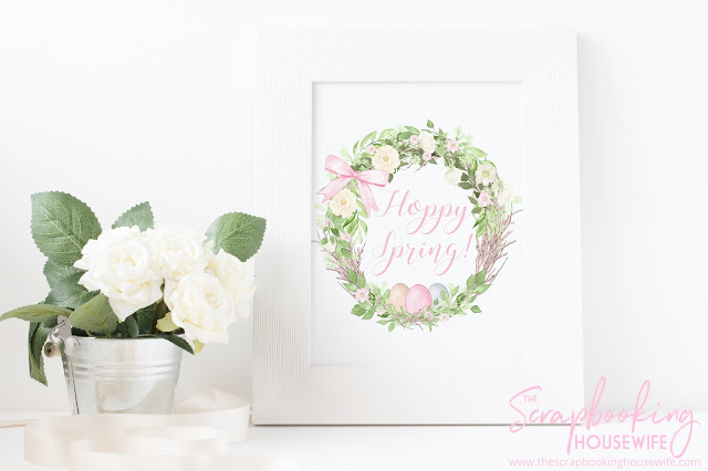 Welcome Spring & Easter Free Printable Wall Art Decor