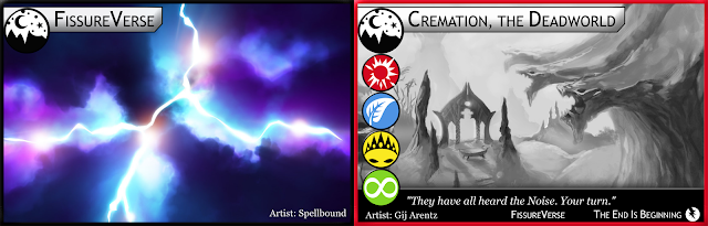 Location card back and Cremation, the Deadworld