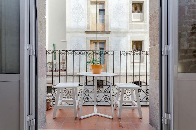 balcón de piso reformado