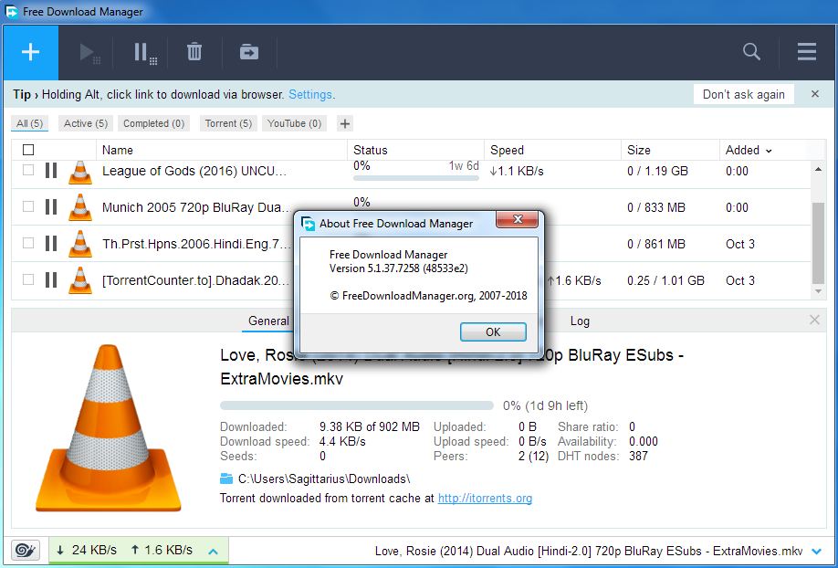 Free Download Manager (FDM) 5 1 37 Latest Build 7258