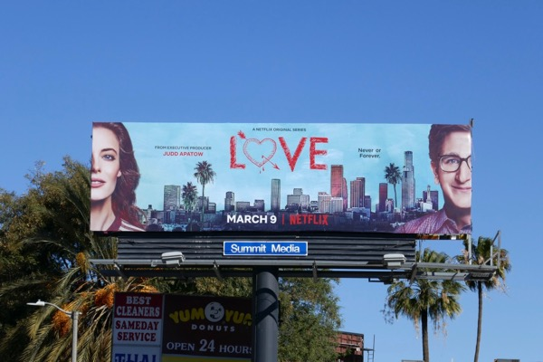 Love season 3 Netflix billboard