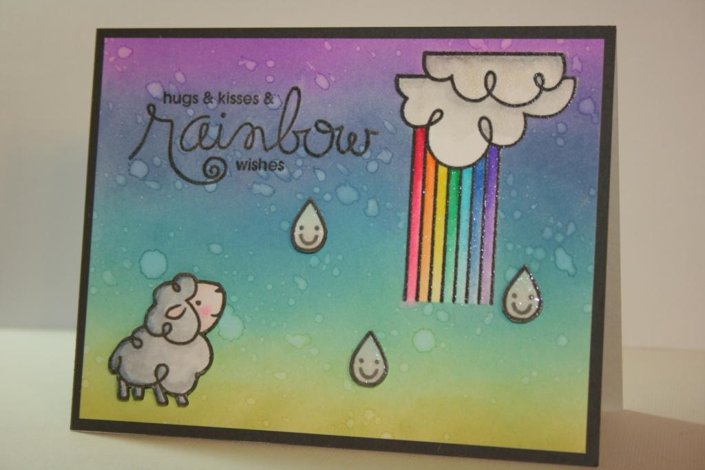 My Craft World Paper Smooches April Challenge Showers