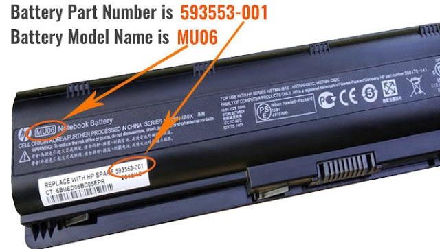 Battery Model Number