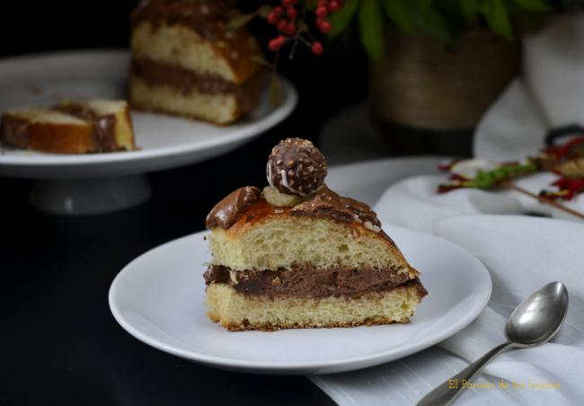 Roscón De Reyes  Relleno  De Crema De  Chocolate  Cocinas Del Mundo