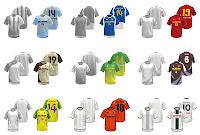 Çeşitli futbol forma modelleri