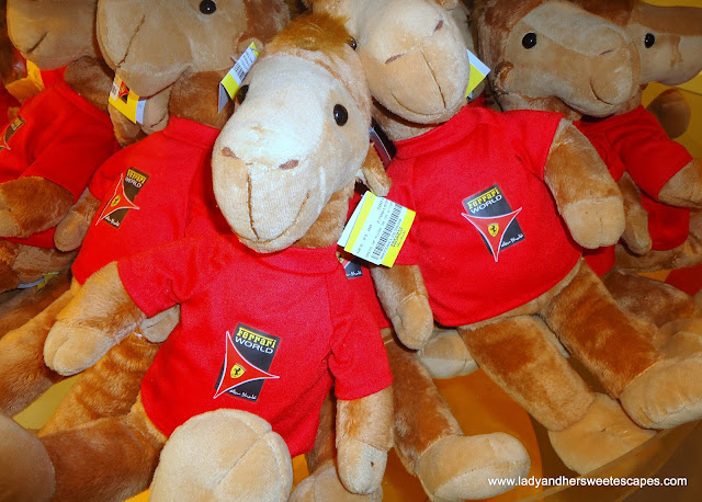 plush toys in Ferrari Store