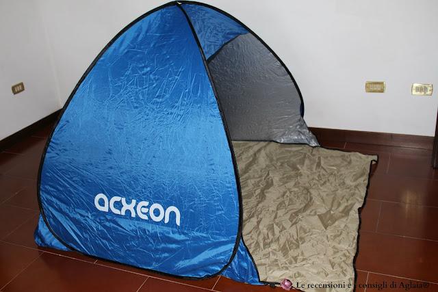 Tenda portatile instantanea CoCo, tenda da spiaggia, impermeabile,con protezione raggi UV, per 2-3 persone