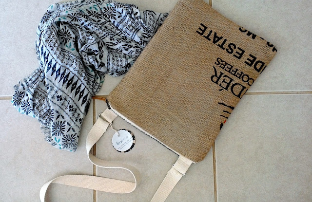 Estate Crossbody burlap bag by Lina and Vi Plymouth Michigan