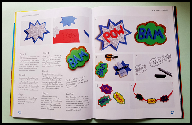 Snippet of what you can expect in the new superhero craft book