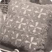 Cojín cuadrado a Crochet
