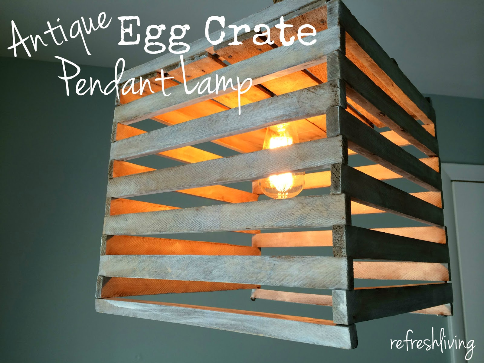 antique egg crate upcycle