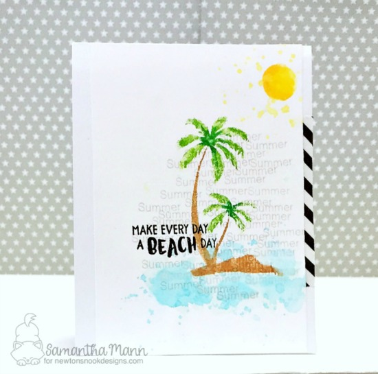 Make Every Day a Beach Day Card by Samantha Mann | Paradise Palms stamp set by Newton's Nook Designs #newtonsnook