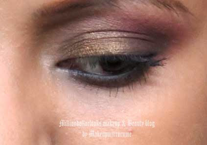 Evening Makeup for Winter Wedding Parties : Shimmery Eyes & Dark Cranberry Lips