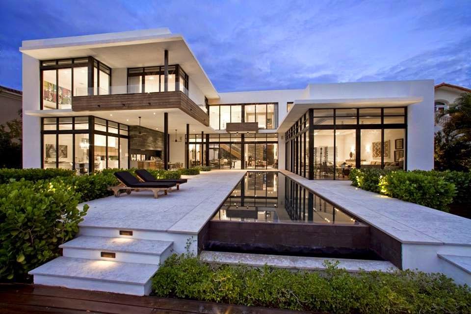 construindo minha casa clean 30 fachadas de casas modernas dos sonhos. Black Bedroom Furniture Sets. Home Design Ideas