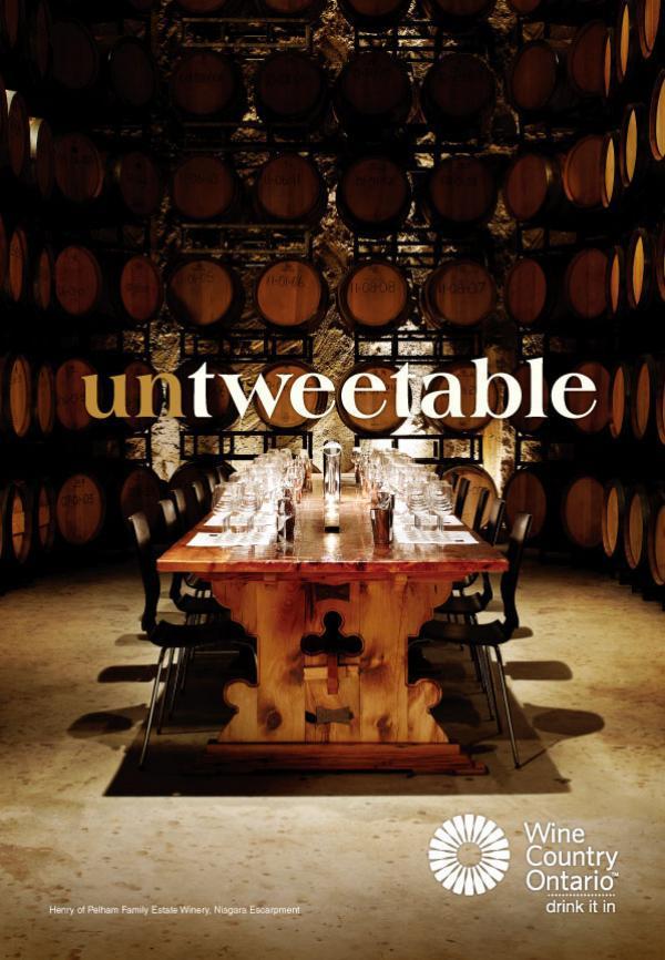 Wine Country Ontario Untweetable Print Ad Campaign