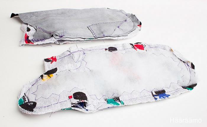 Lapaset vanhasta villapaidasta: vuori