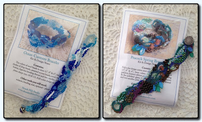 Two of my kits with their respective inspiration bracelets
