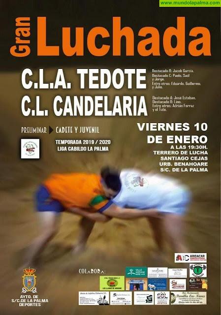 Nuevo derbi capitalino entre el Club de Lucha Auarita Tedote y Club de Lucha Candelaria este viernes 10 de enero