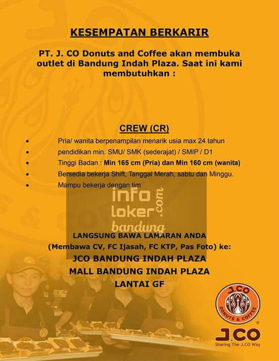 Lowongan Kerja PT. JCO Donuts and Coffee BIP Januari 2017