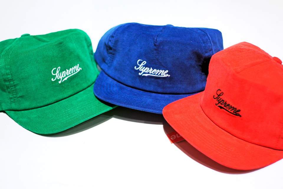 4401bf9277f SOLD OUT) Supreme Cord Script 5 Panel ( Snapback )