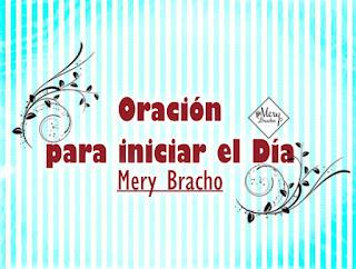 Video con oración corta para este día, buenos días con oración de la mañana por Mery Bracho. Youtube video para orar.