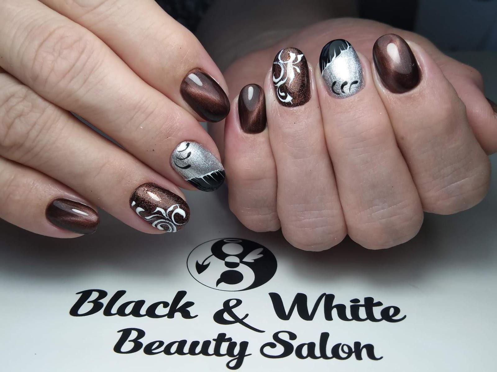 Black & White Nails Art Disign: Nail Grinding Kit
