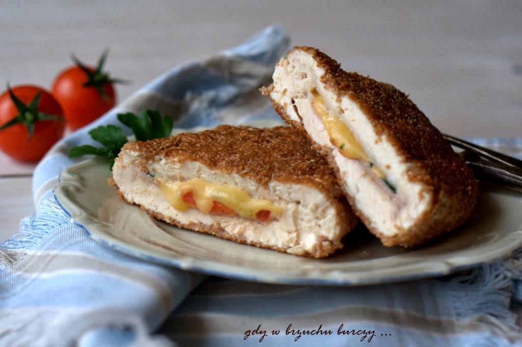 pierś kurczaka faszerowana szynką i serem