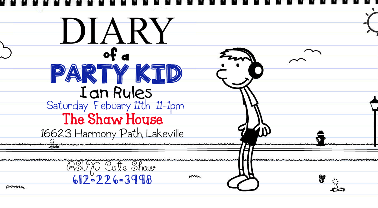 I do on a dime free template diary of a wimpy kid birthday free template diary of a wimpy kid birthday invitation party ideas filmwisefo