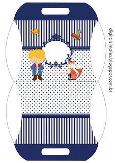 Cajas Almohada de Pequeño Principito  para imprimir gratis.