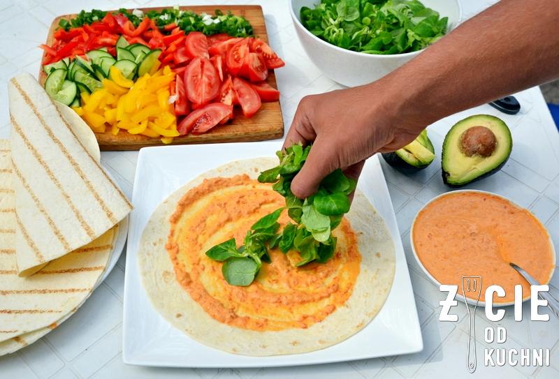 tortilla, wrap, wrap z kurczakiem, wrap z warzywami, jak zrobic wrap, zycie od kuchni