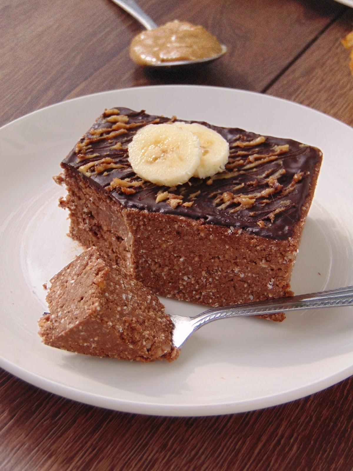 Ciasto Czekoladowo Orzechowe Bez Pieczenia Moje Zdrowe Slodkosci