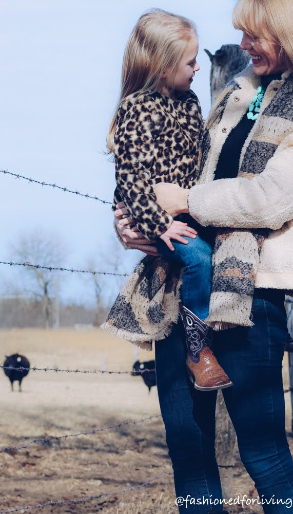 matching leopard outfits for winter