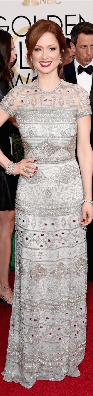 Ellie Kemper 2015 Golden Globe Awards