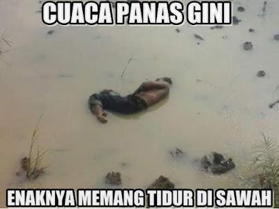 10 Meme 'Tidur di Sawah' Ini Kocak Banget, Berani Coba Nggak?