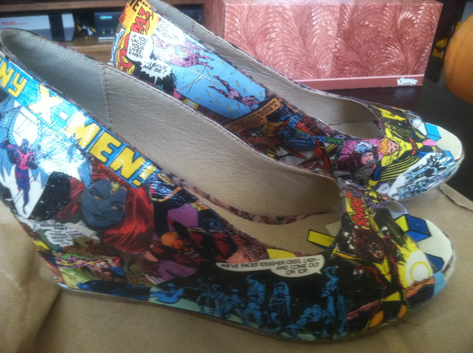 e79e63103afe Hot Ink  Crafty Ink  DIY Comic Book Shoes!
