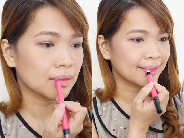 a photo of Maybelline LIPgradation how to use