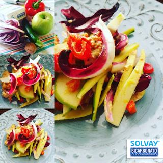 Foto,frutta e verdura e Bicarbinato Solvay