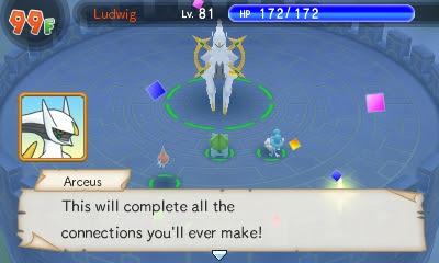Arceus Pokémon Super Mystery Dungeon connecting dialogue Destiny Tower final