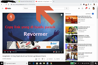 Contoh screenshot link video youtube yang harus di copy