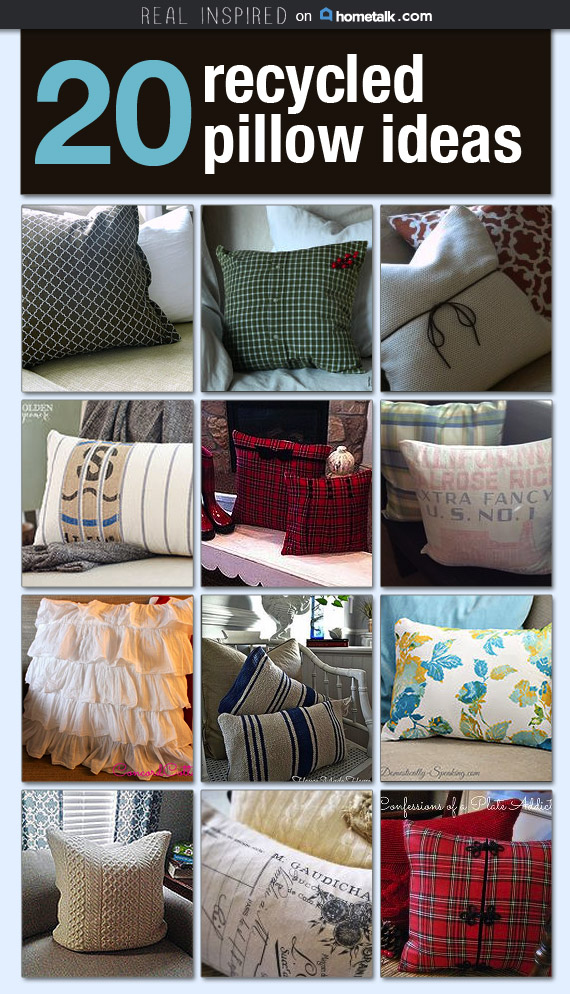 20 Recycled Pillow Ideas-Real Inspired on Hometalk