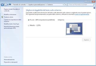Schermo Windows 7