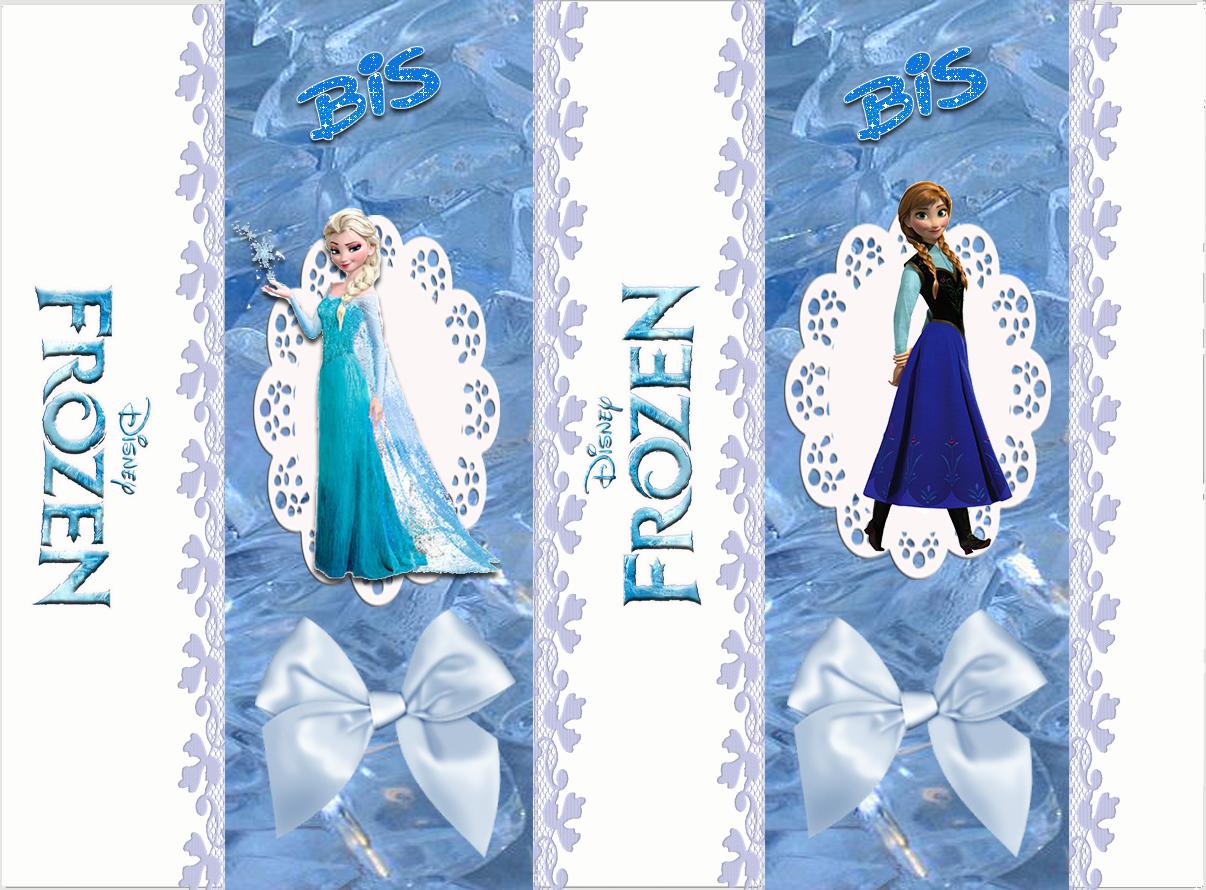 "Rótulo Bis ""Frozen-Uma Aventura Congelante"" Para Imprimir"