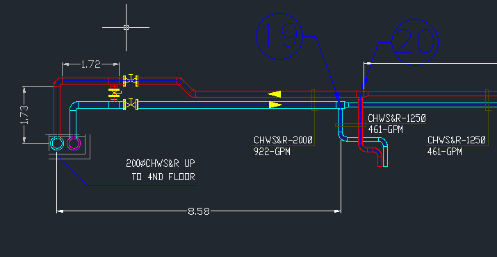 download chilled water system autocad drawings