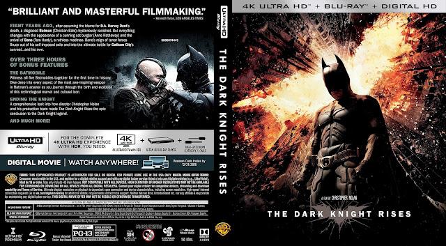 The Dark Knight Rises 4k Bluray Cover